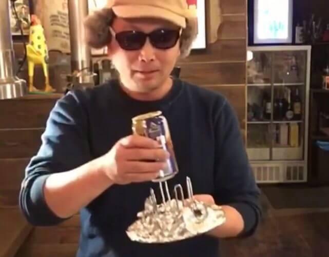 ビア缶チキンのビールをセット